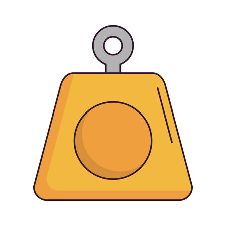 weight icon over white background vector illustration Illustration