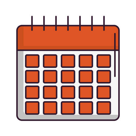 planning: calendar icon over white background vector illustration