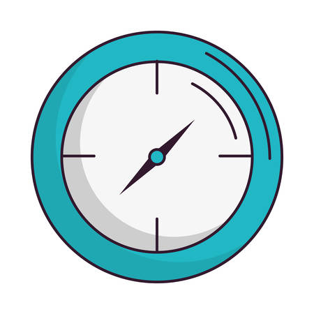 clock: clock icon over white background vector illustration