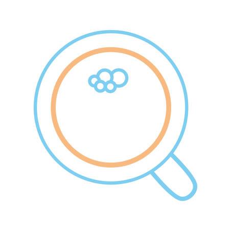 notebook: flat line colored lens  glass over white  background  vector illustration Illustration
