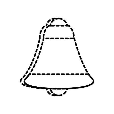 flat lien  uncolored  bell  sticker over white background  vector illustration Illustration