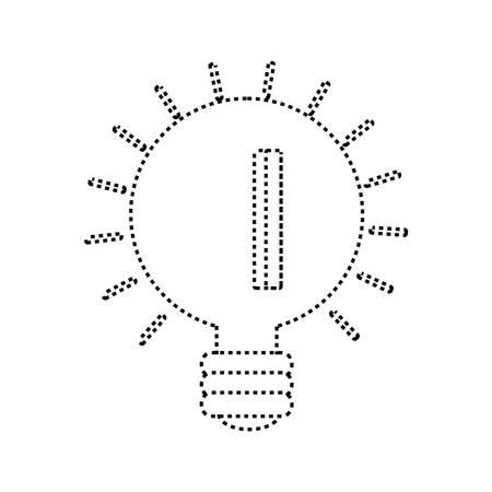 power: light bulb icon over white background vector illustration Illustration