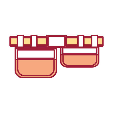 accessory: tool belt icon over white background colorful design vector illustration Illustration