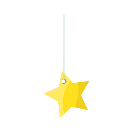 star hanging icon over white background vector illustration Illustration