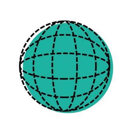 flat earth: global sphere icon over white background vector illustration Illustration