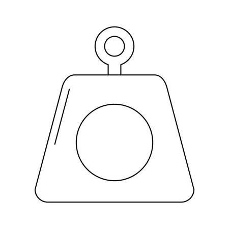 weight icon over white background vector illustration Stock Vector - 87674086