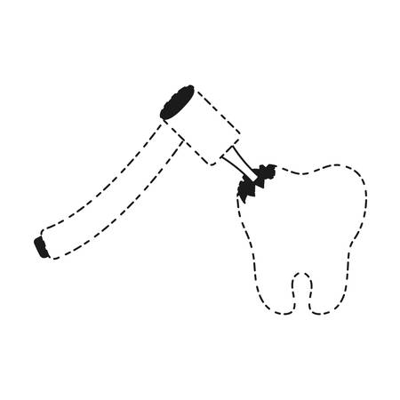 tooth and dental tool icon over white background vector illustration Illustration