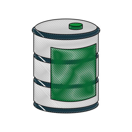 barrel icon over white background vector illustration
