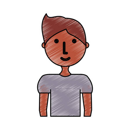 nice body: colored young man  doodle over white background  vector illustration Illustration