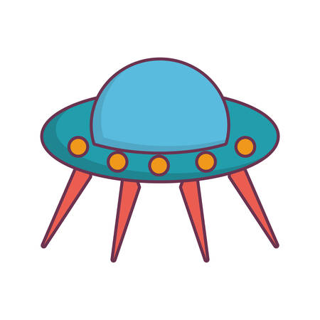 toy spacecraft icon over white background vector illustration Illustration