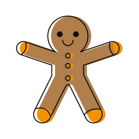 Gingerbread man cookie icon.