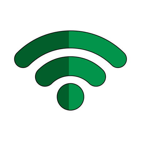 Wireless sign icon.