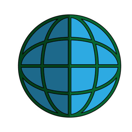 Global sphere icon. Illustration