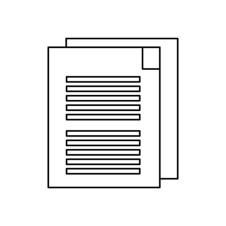 Flat lien uncolored document