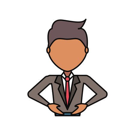Colorful  man avatar  over white background  vector illustration