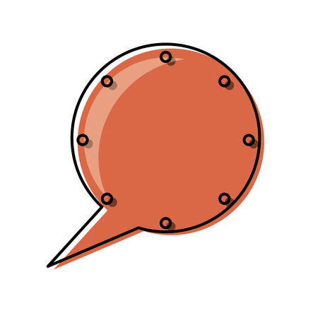 Flat line colored  chat bubbles over white  background  vector illustration Illustration