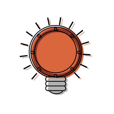 Flat line  colored bulb idea ove white background  vector illustration Illustration