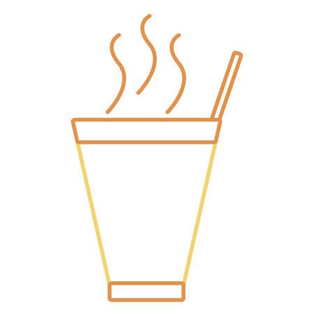 Flat line coffee cup Illustration