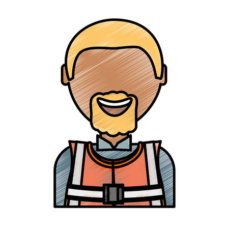 Working man icon. Illustration
