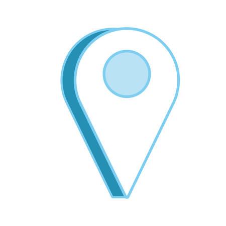 Location pin icon. Illustration