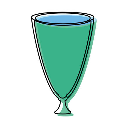 glass cup icon over white background vector illustration