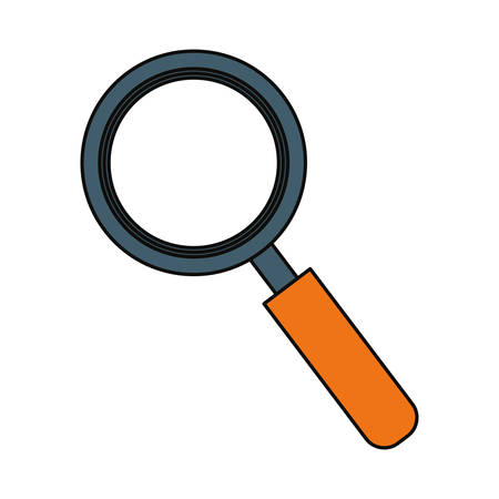inquire: Magnifying glass icon over white background vector illustration