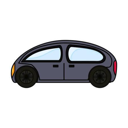 Colorful  car over illustration.
