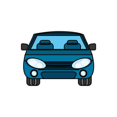 ilustration: colorful  car over white background  vector ilustration