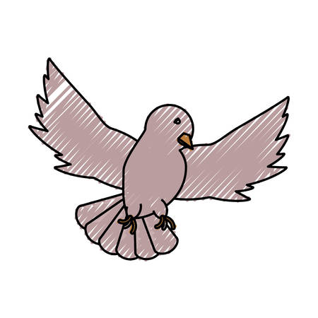 colored peace dove doodle over background vector illustration Illustration
