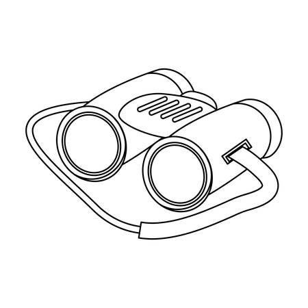 binoculars icon over white background vector illutration Illustration