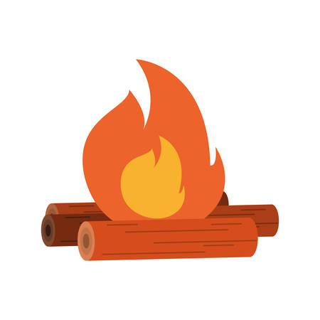 bonfire icon over white background vector illustration Illustration