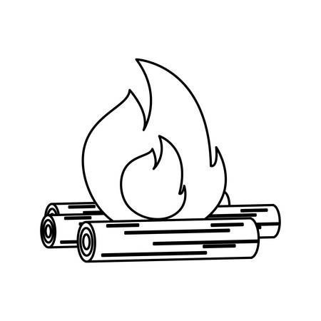Bonfire icon over white background vector illustration