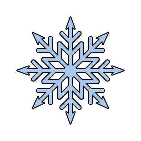 snowflake icon over white background vector illustration