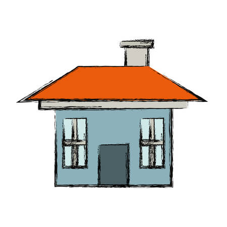 house icon over white background vector illustration