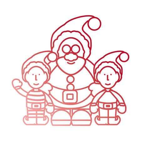 cartoon santa claus icon over white background vector illustration Illustration