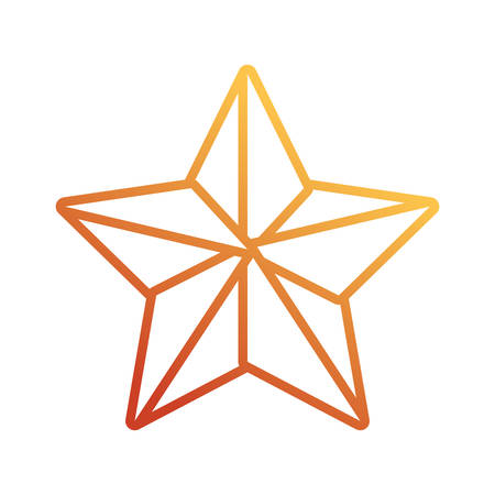star icon over white background vector illustration Illustration