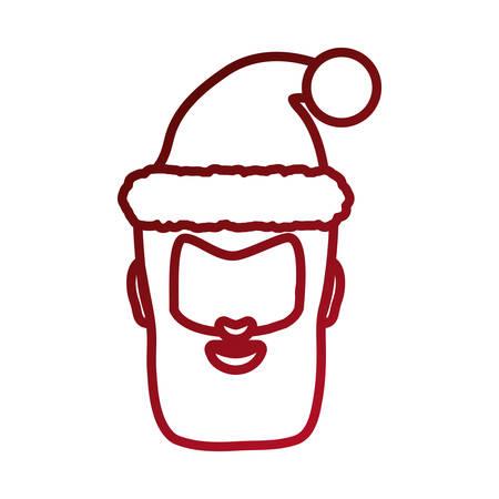 avatar santa claus icon over white background vector illustration Illustration