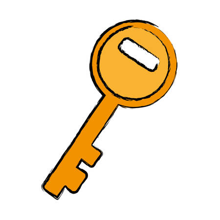 key icon over white background vector illustration