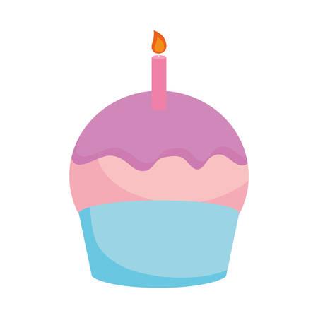 cupcake icon over white background vector illustration Illustration
