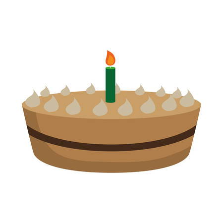 birthday cake icon over white background vector illustration Illustration