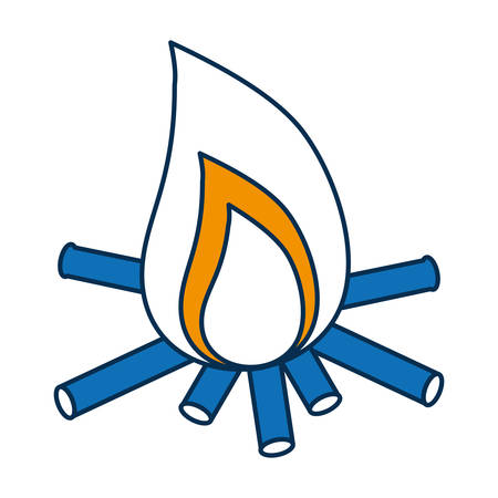 Bonfire icon. Illustration