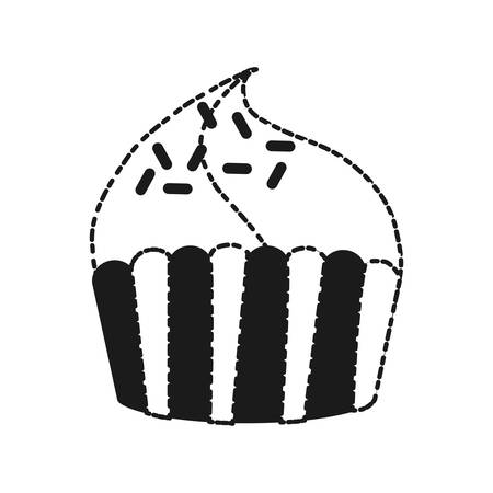 cupcake icon over white background vector illustration
