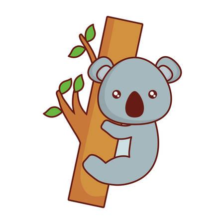 schattig koala pictogram over witte achtergrond vectorillustratie Stock Illustratie