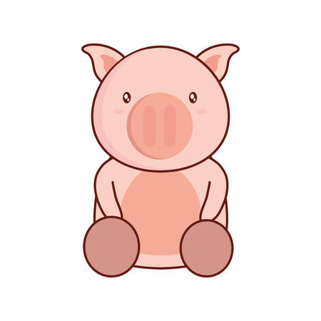 simple life: Pig icon Illustration
