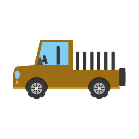 colorful  vehicle over white background  vector illustration Illustration