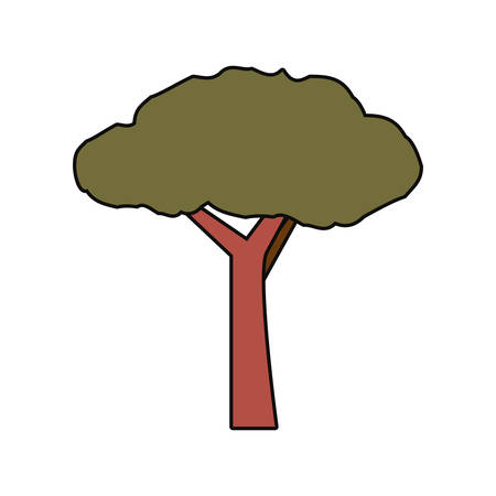 Colorful  tree over white background  vector illustration