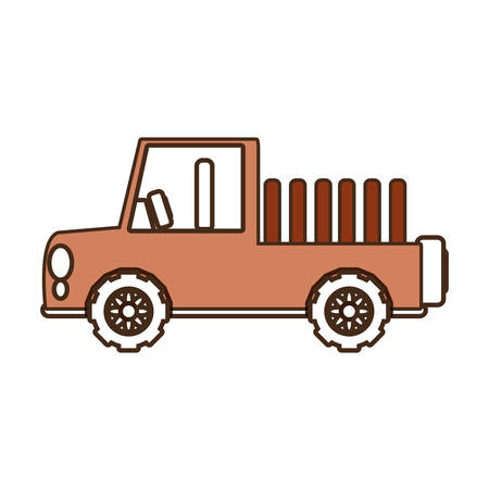Flat line  colored  vehicle over white background  vector illustration Illustration