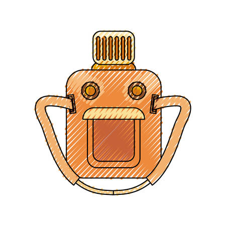 colored   canteen doodle over white background  vector illustration Illustration