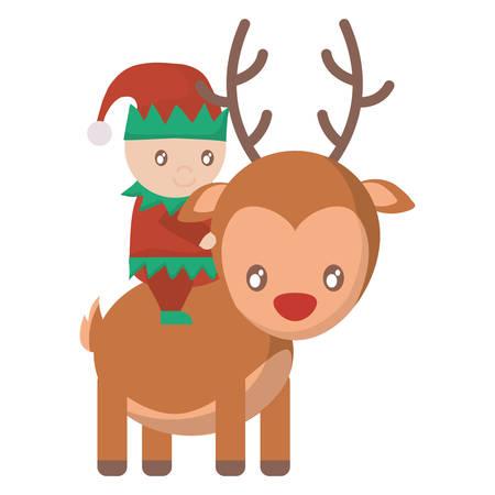 santa helper: Santa helper and deer icon
