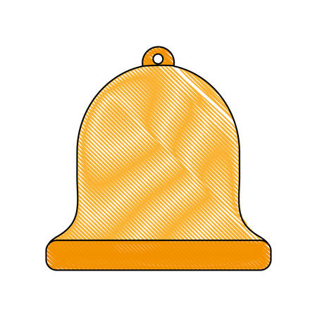 Bell icon over white background vector illustration Illustration